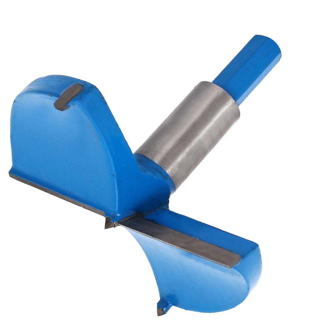 Wood Carpenter Hinge Boring Drill Bit 95mm Cutting Diameter Blue Silver Tone