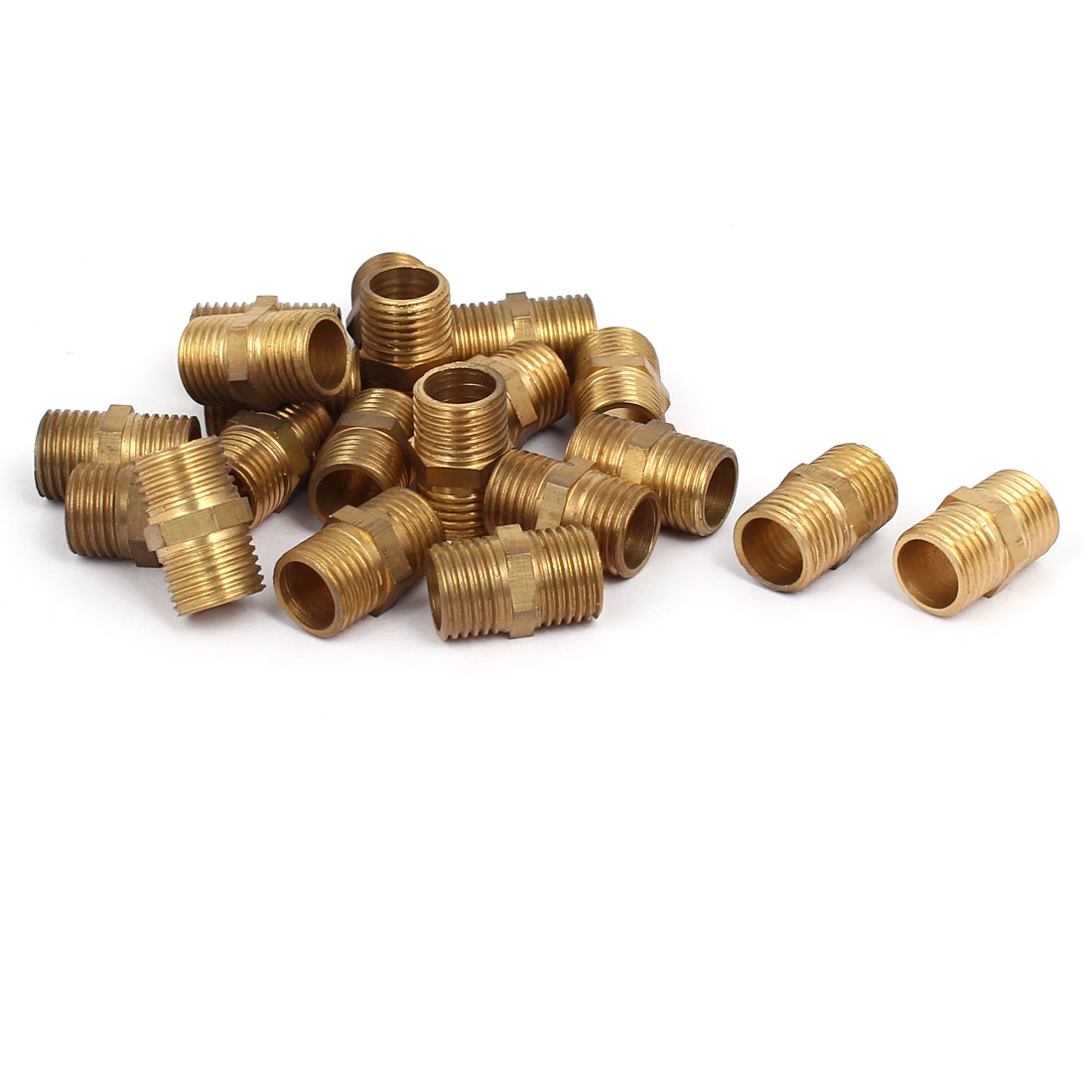 1/4BSP Male Thread Hex Nipple Air Water Pipe Plumbing Connecting Fitting 20pcs