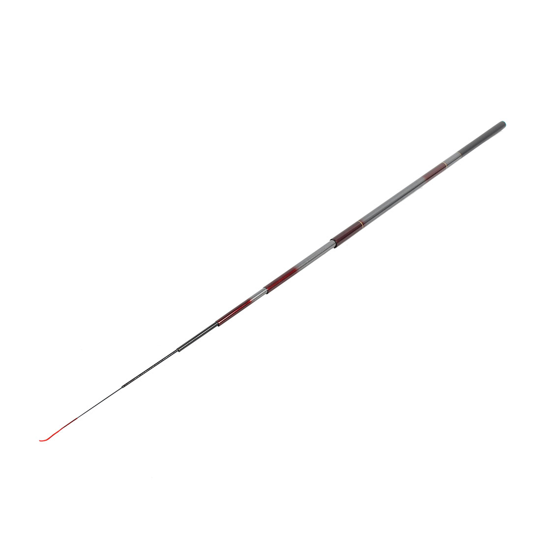Telescopic 8 Sections Travel Camping Fishing Pole Rod Dark Red 360cm 11.8Ft Length