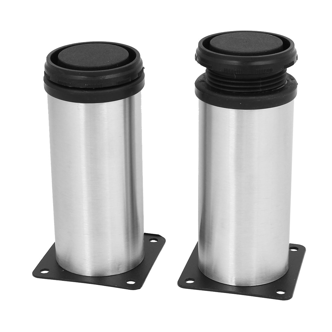 120mm Height Stainless Steel Square Shape Base Adjustable Cabinet Leg Feet 2pcs