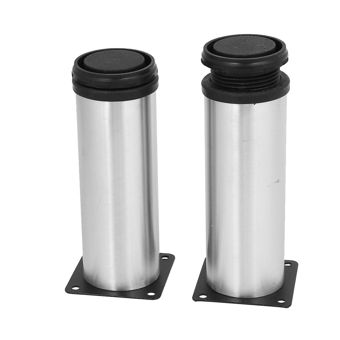 150mm Height Stainless Steel Square Shape Base Adjustable Cabinet Leg Feet 2pcs