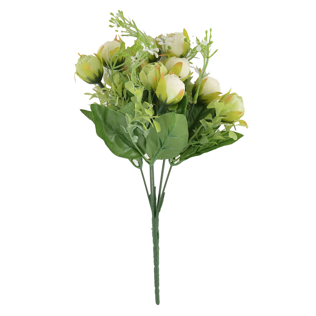 Wedding Banquet Table Decor 10 Heads Camellia Flower Artificial Bouquet White