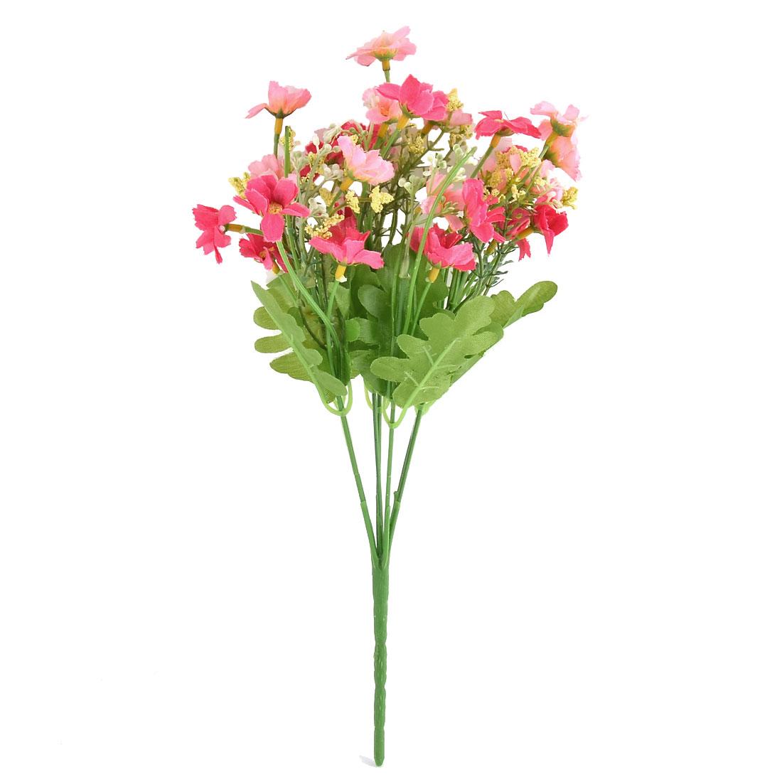 Wedding Banquet Garden Ornament Chrysanthemum Flower Artificial Bouquet Fuchsia