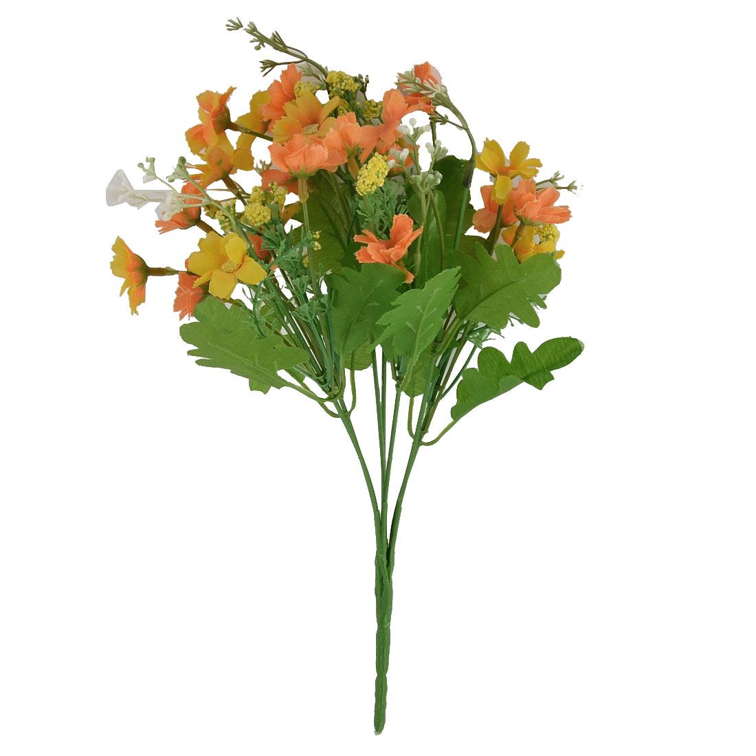 Wedding Banquet Ornament Chrysanthemum Flower Artificial Bouquet Orange