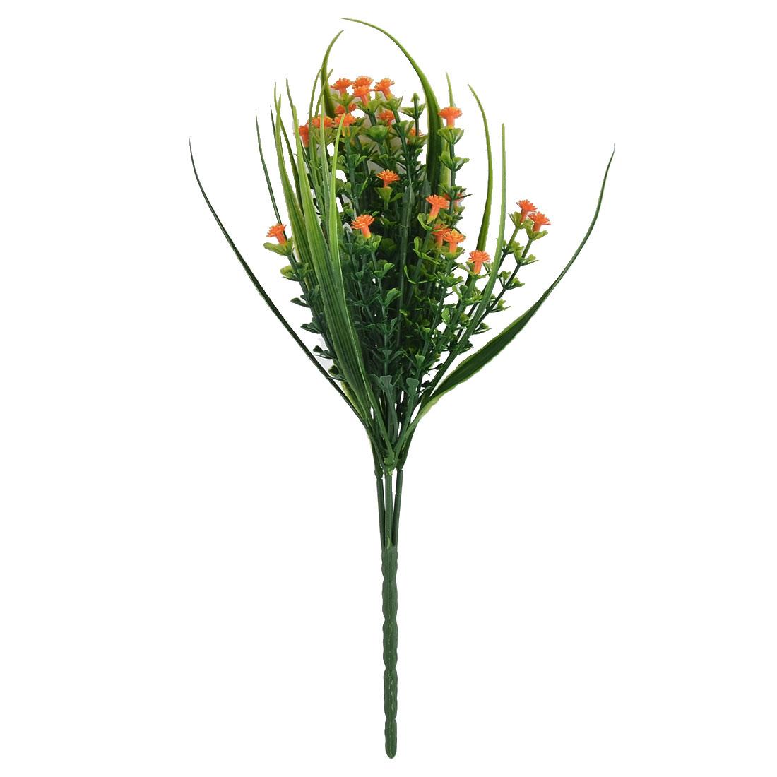 Weeding Restaurant Decorating Slender Flower Blossom Artificial Bouquet Orange
