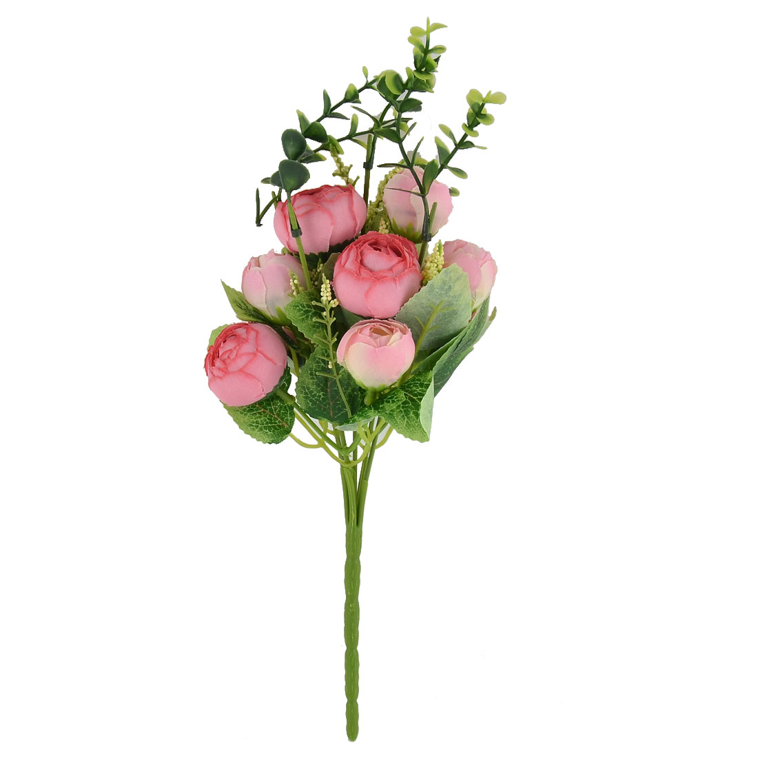 Banquet Table Decor 10 Heads Camellia Bud Simulation Artificial Bouquet Pink