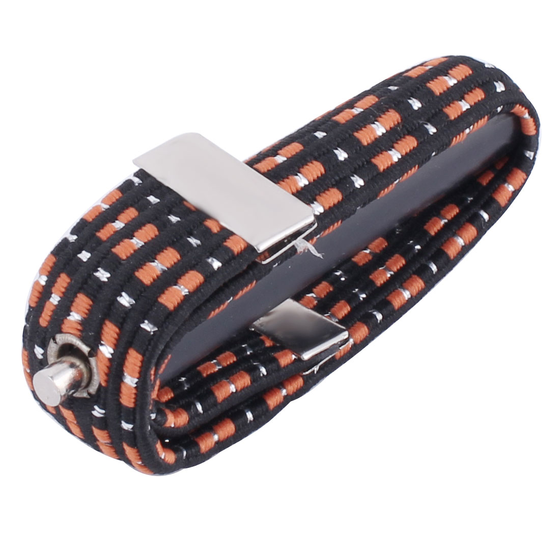 Elastic Nylon Band Plastic Guitar Trigger Capo Black Orange Silver Tone