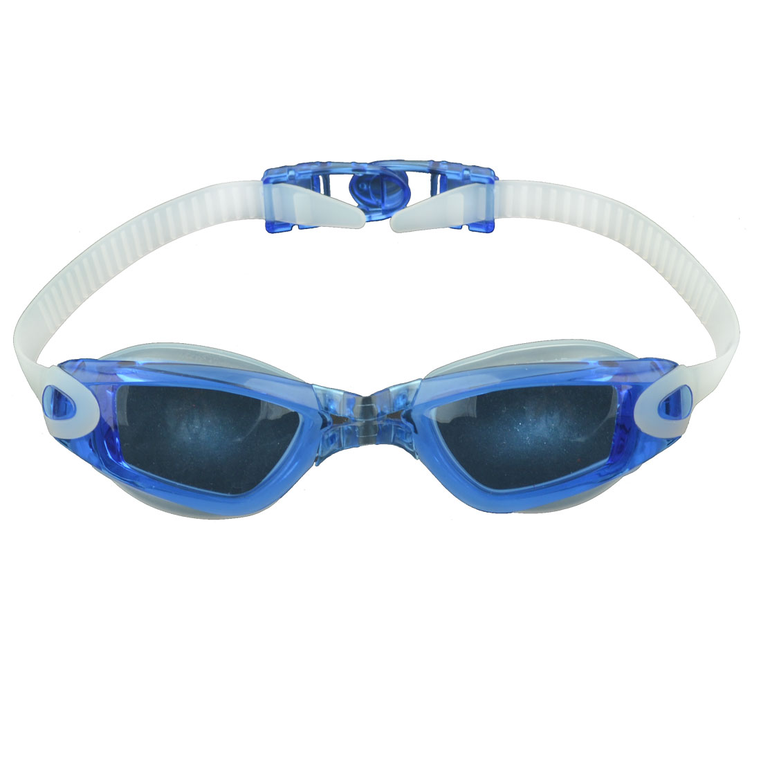 Seaside Swimming Pool Silicone Frame Underwater Swim Anti Fog Goggles Blue