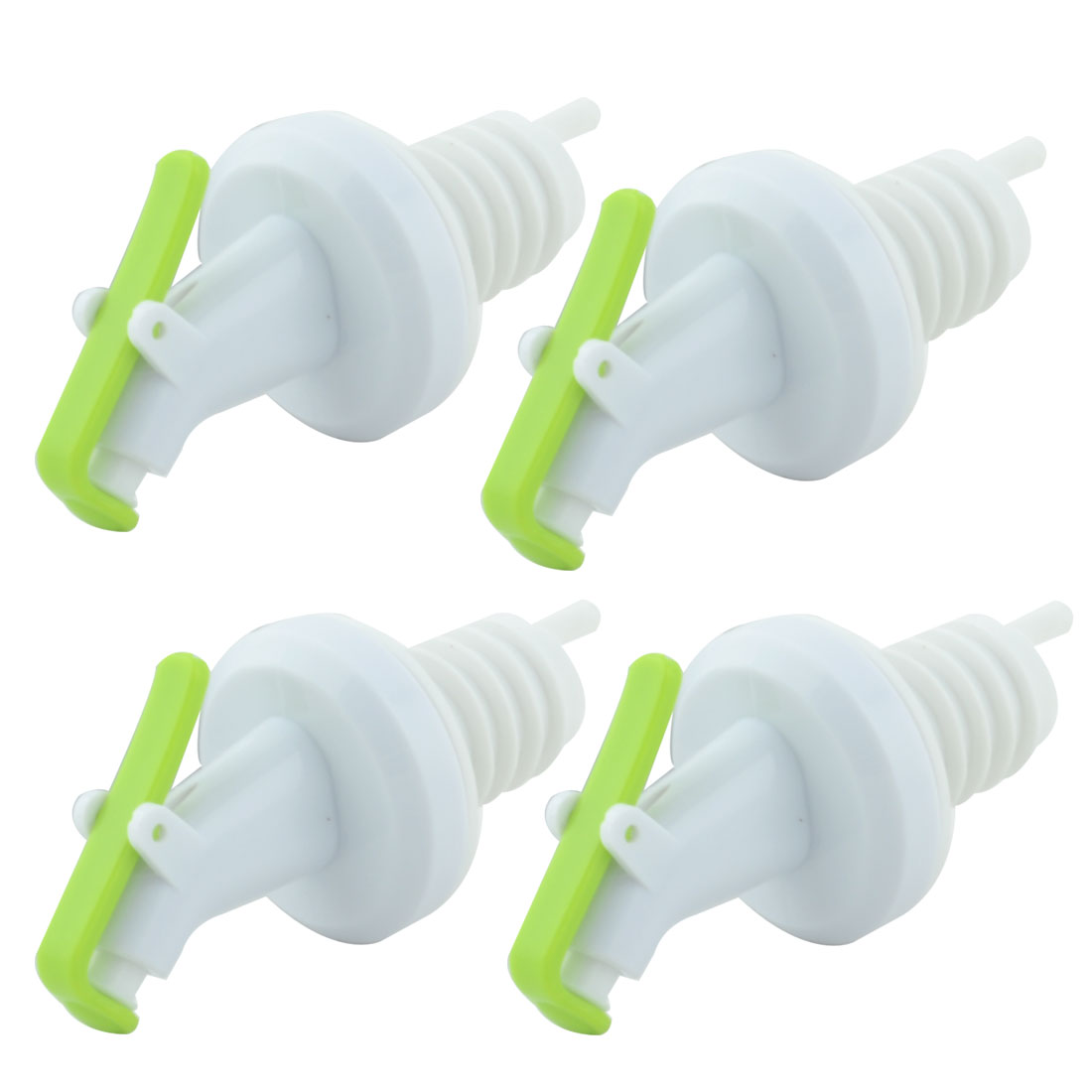 Family Household Kitchen Bar Plastic Wine Olive Oil Vinegar Pourer White 4 PCS