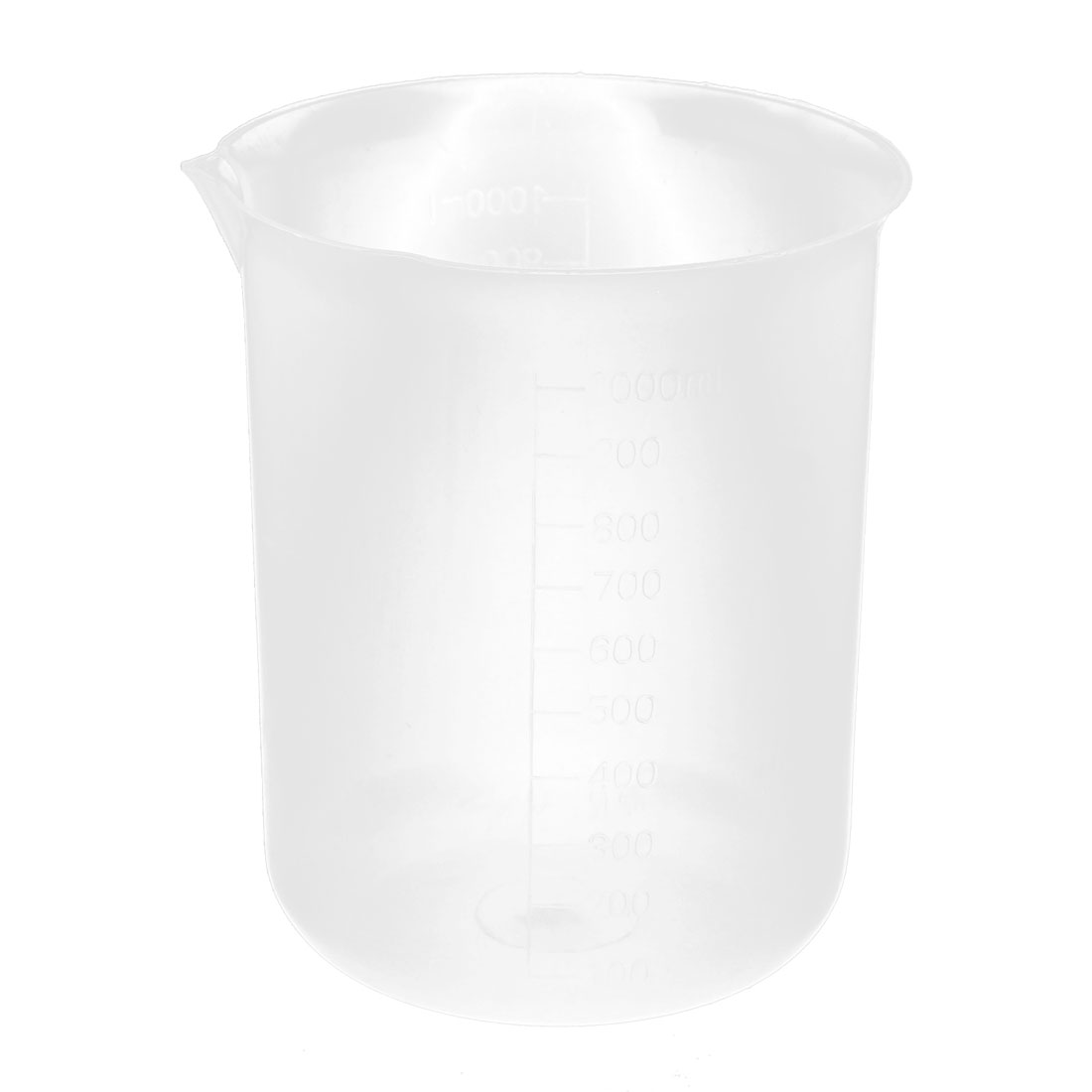 Laboratory Plastic Measuring Cup Beaker 1000mL Capacity Clear