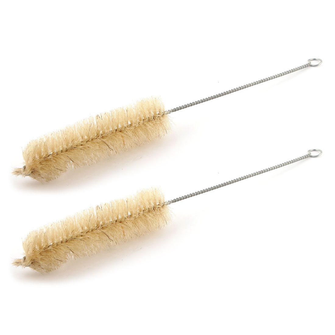 2pcs Twisted Metal Grip Test Tube Measuring Cylinder Washing Brush For 100ml Reagent Bottle