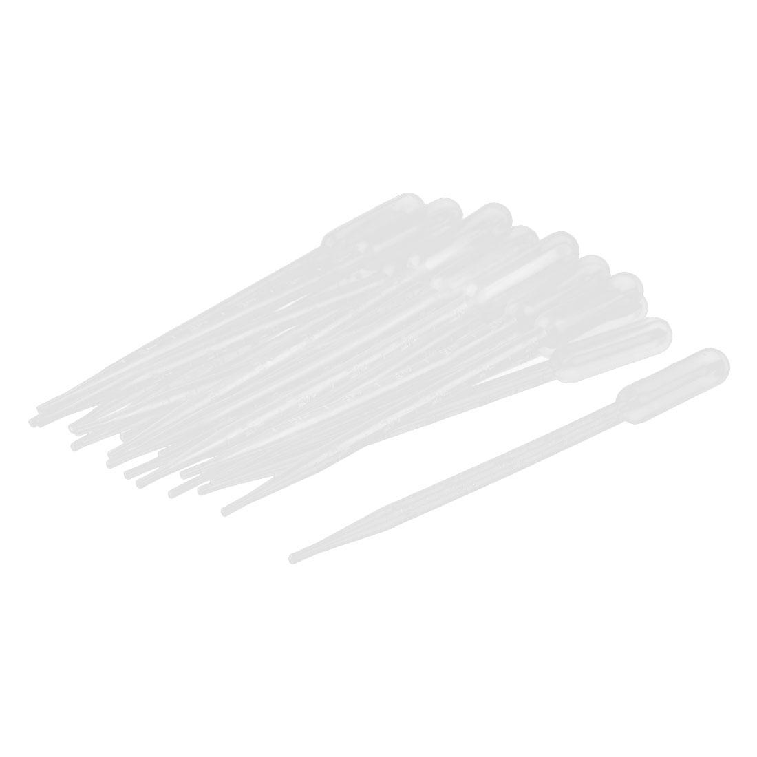 Plastic Transfer Pipettes Graduated Dropper Clear 5ml Capacity 20 Pcs