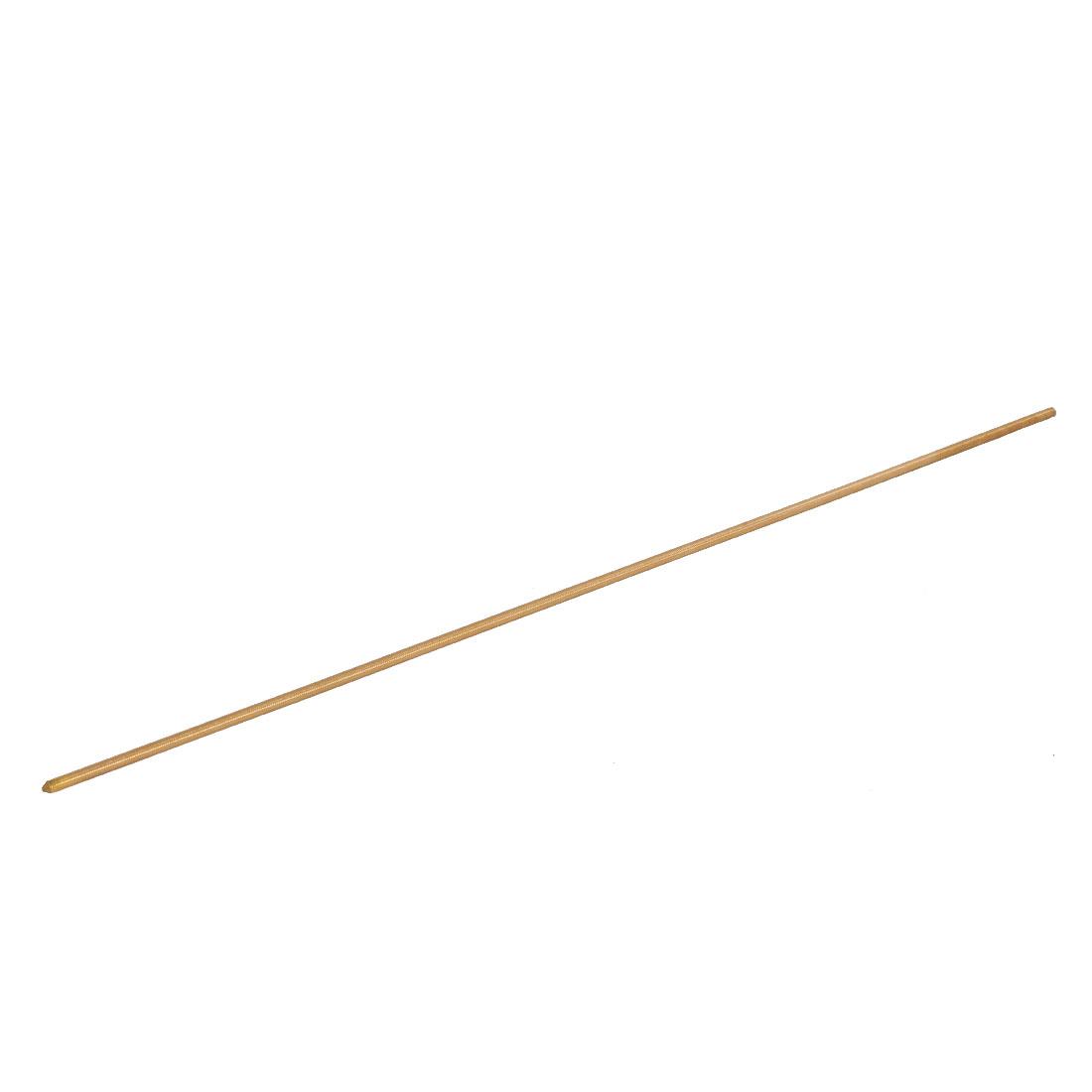 M5 x 500mm Male Threaded 0.8mm Pitch Full Thread Brass Rod Bar Fastener Gold Tone