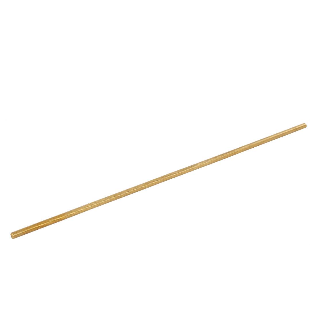 M8 Male Threaded 1.25mm Pitch Full Thread Brass Rod Bar Fastener 500mm Length