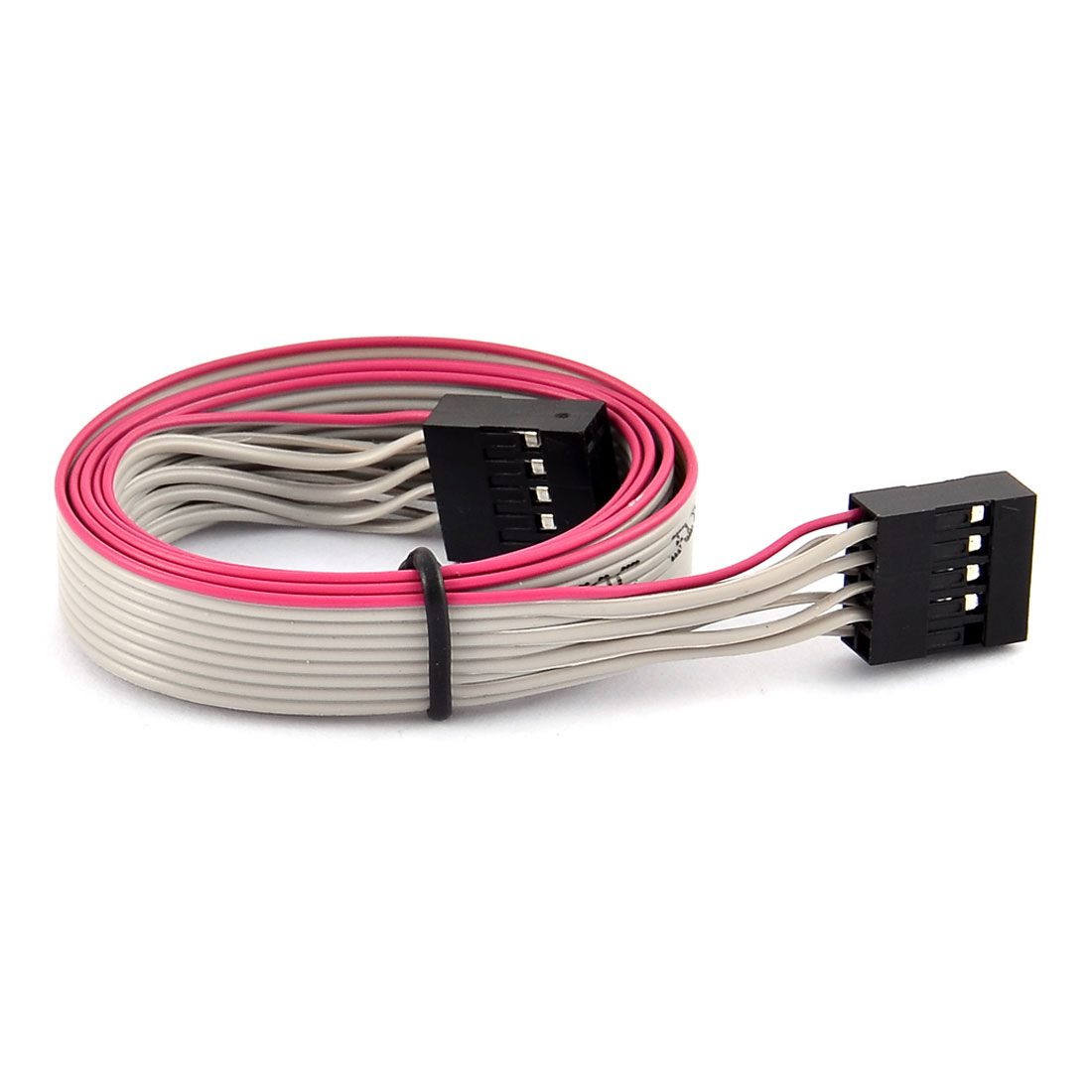 62cm 9 Pin Female to Female Wires Extension Flat Connector Ribbon Cable Gray