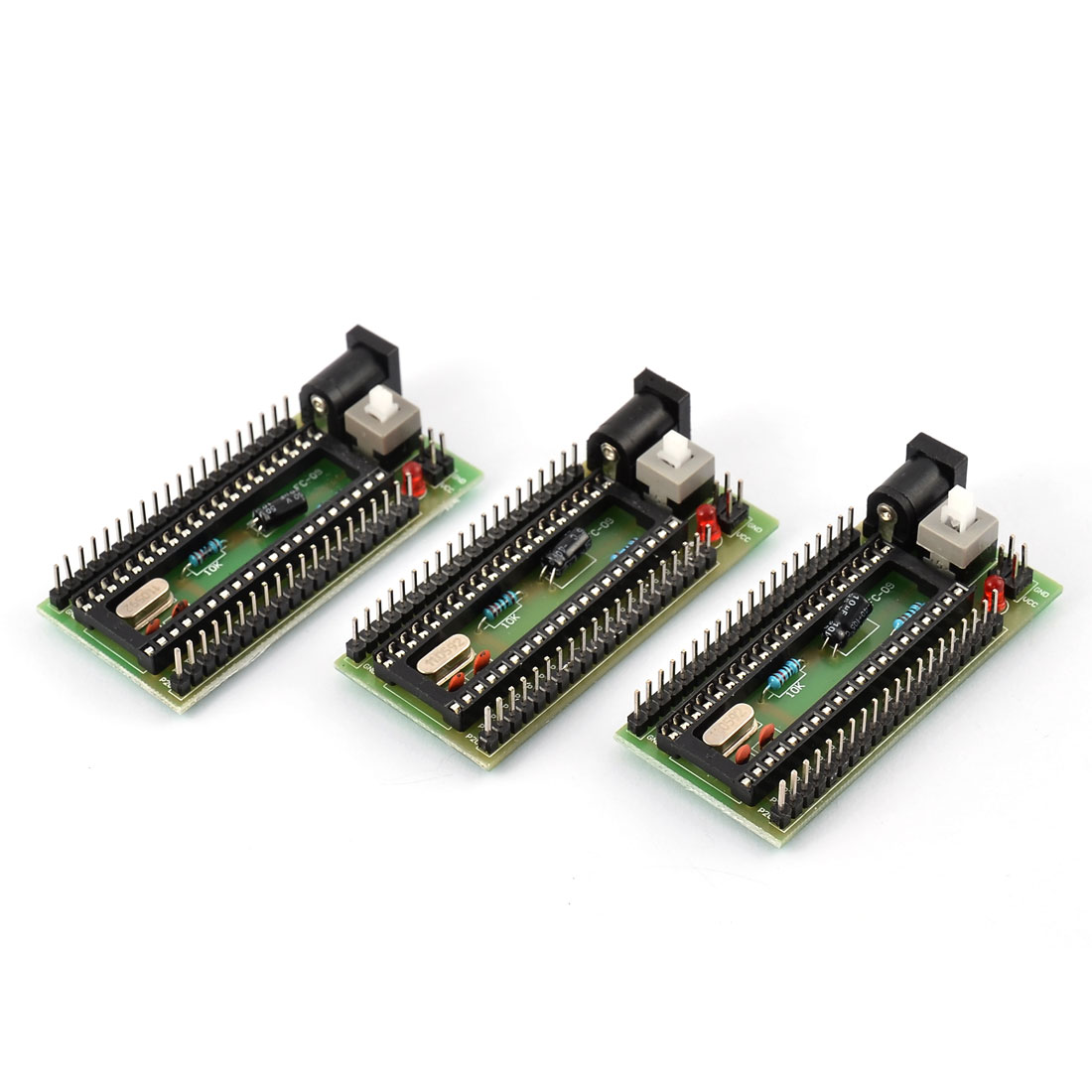 Office YS 51 Smallest Single Chip Development Board STC Minimum System Green 3 PCS