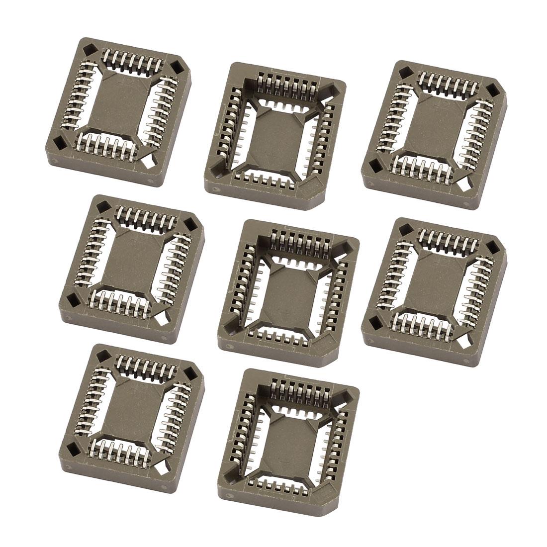 8 Pcs PLCC 32 SMT Surface Mount IC Socket for SMT Chips 20mm x 17mm
