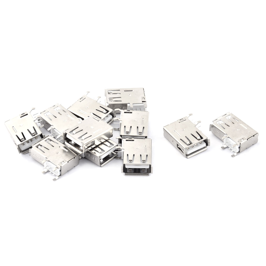 4Pin 90 Degree Side DIP USB Female Type A USB Jack Socket Connector 11 PCS