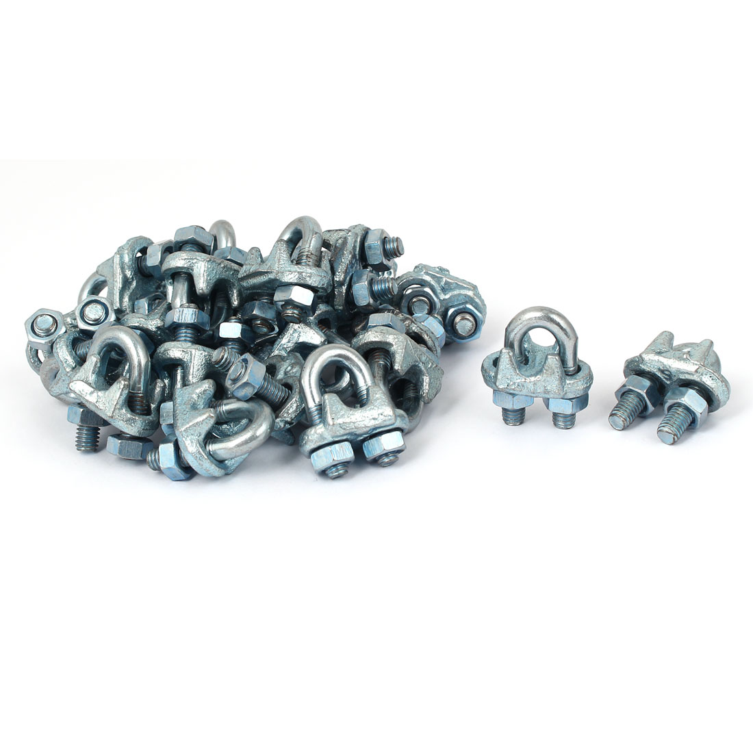 6mm Inner Width Stainless Steel Wire Rope Cable Clip Saddle Clamp Fastener 24pcs