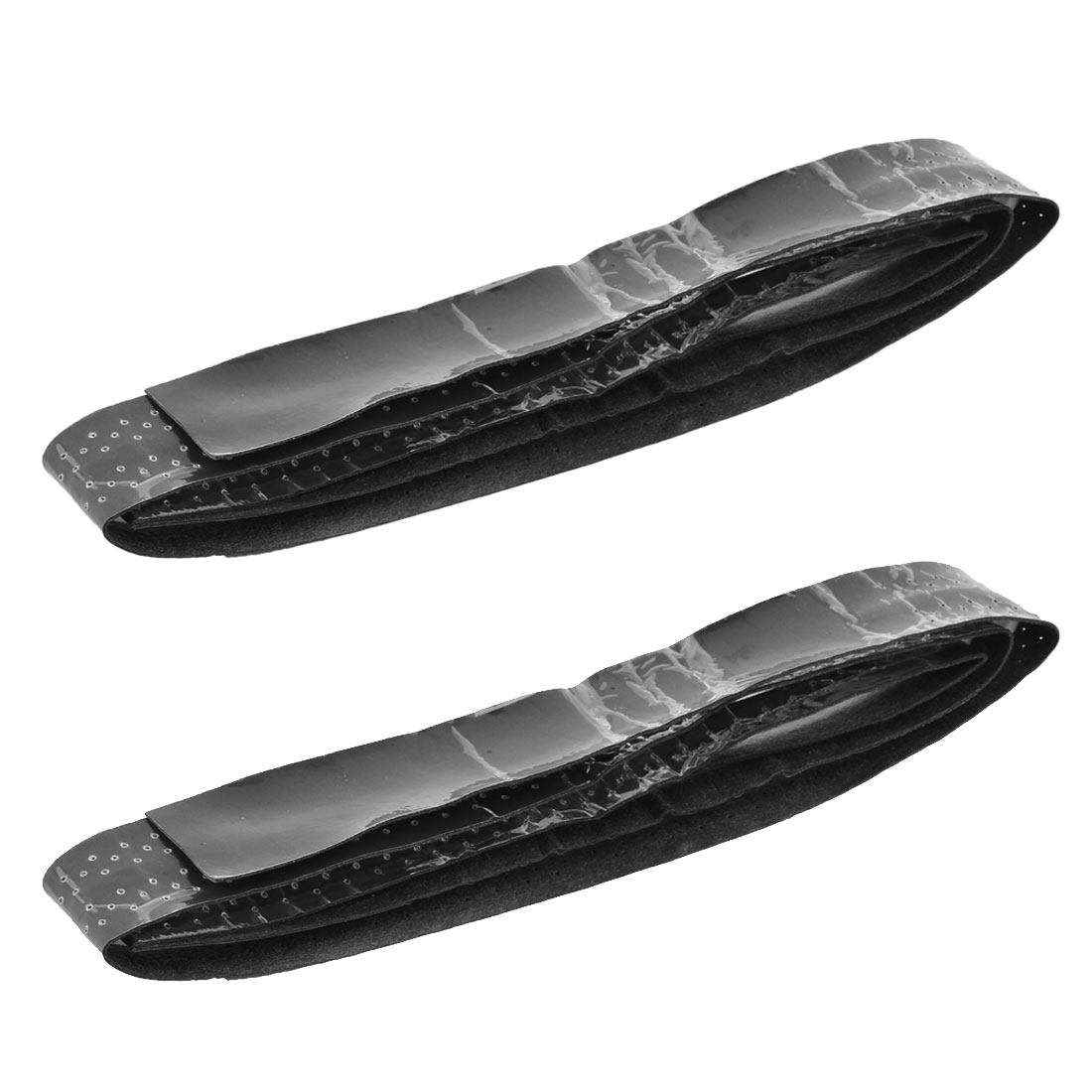 Outdoor Badminton Foam Self Adhesive Racket Handle Grip Belt Band Tape Black 2pcs
