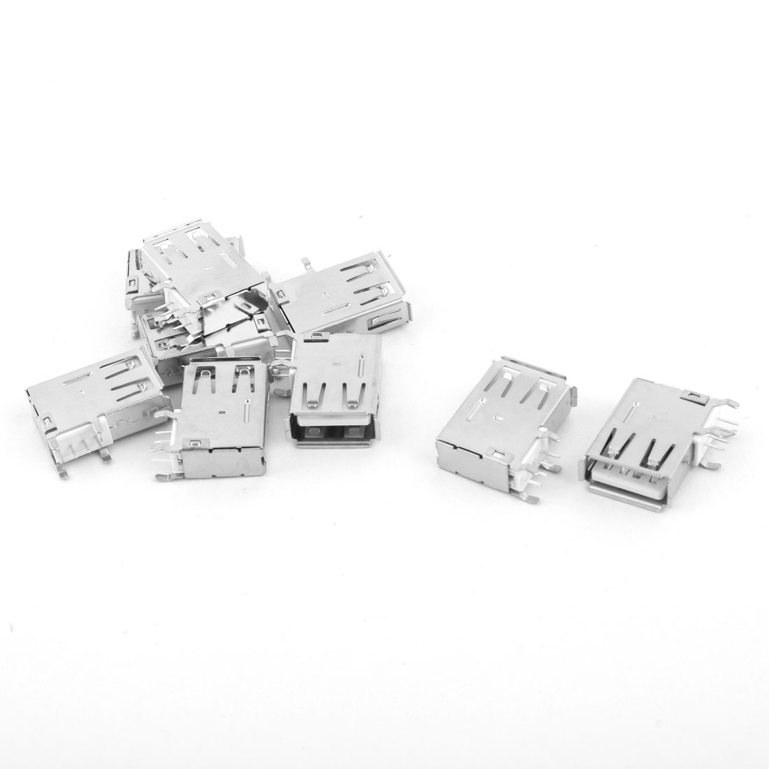 Home DIY USB 2.0 Port Type A Female Socket Connectors 9pcs for PCB