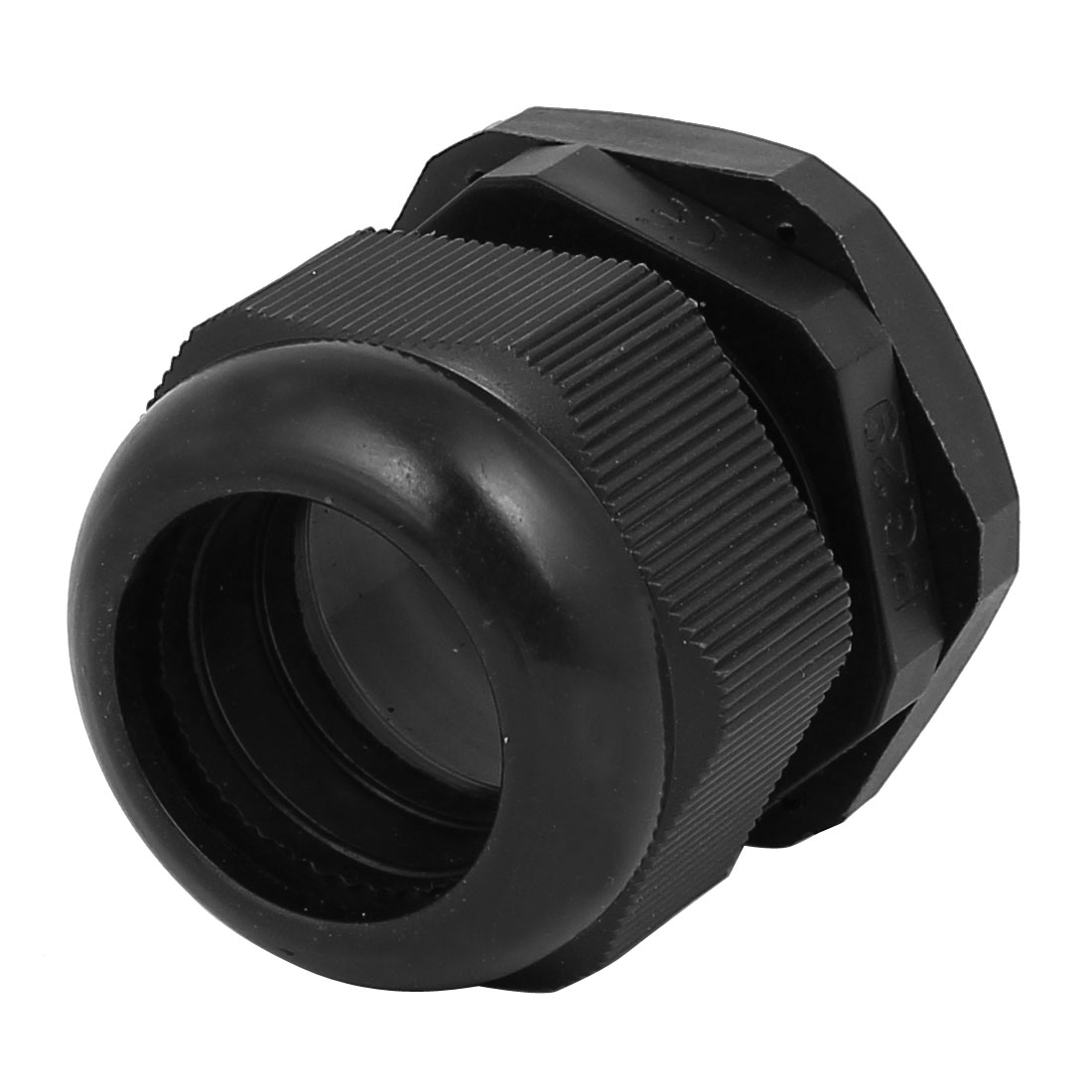 Waterproof Adjustable PG29 13-24mm 44mmx49mm Cable Gland Black
