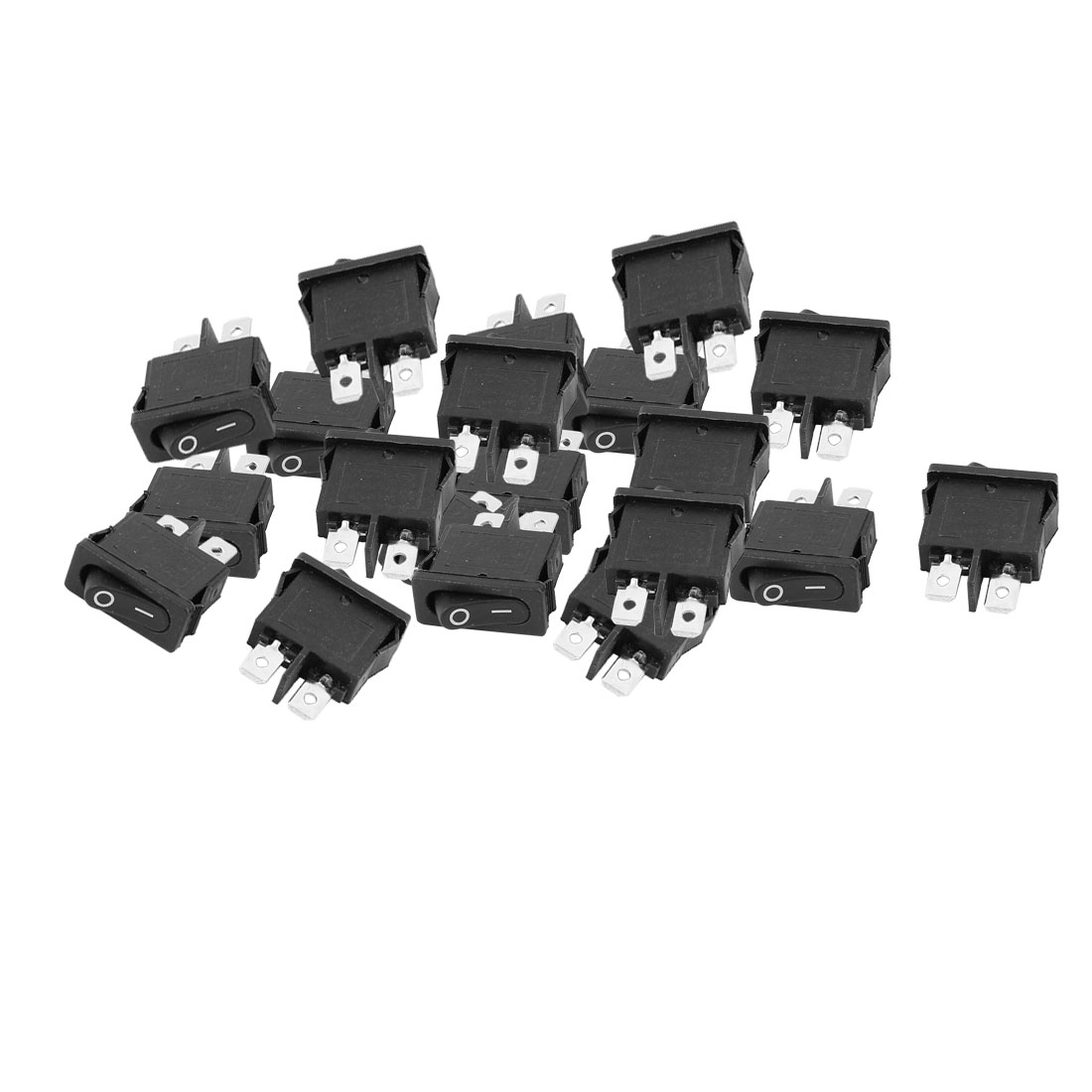 20Pcs AC250V 6A AC125V 10A 2 Terminals Locking SPST On Off Snap in Boat Rocker Switch