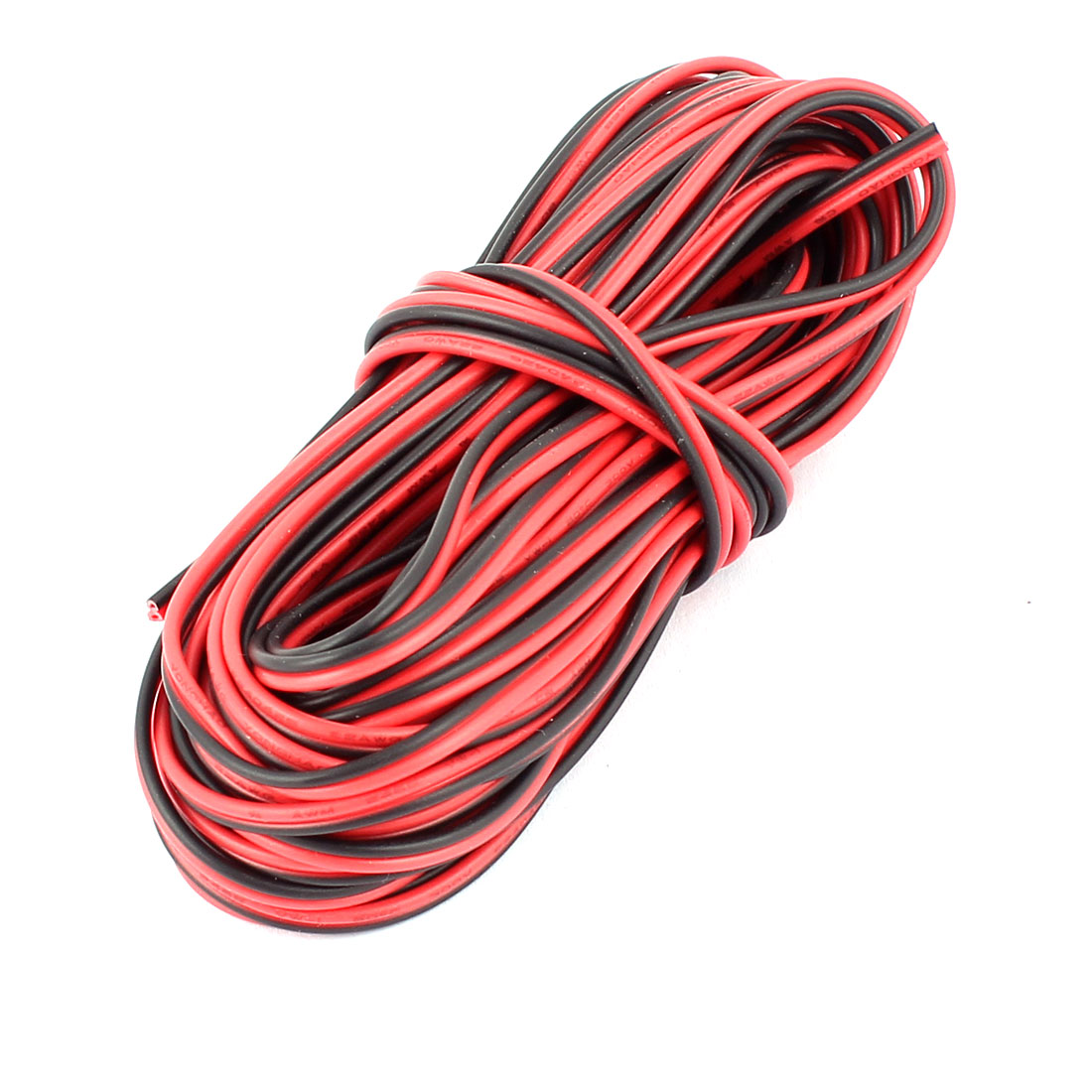 Black Red 22AWG Indoor Outdoor PVC Insulated Electrical Wire Cable 9 Meters Long