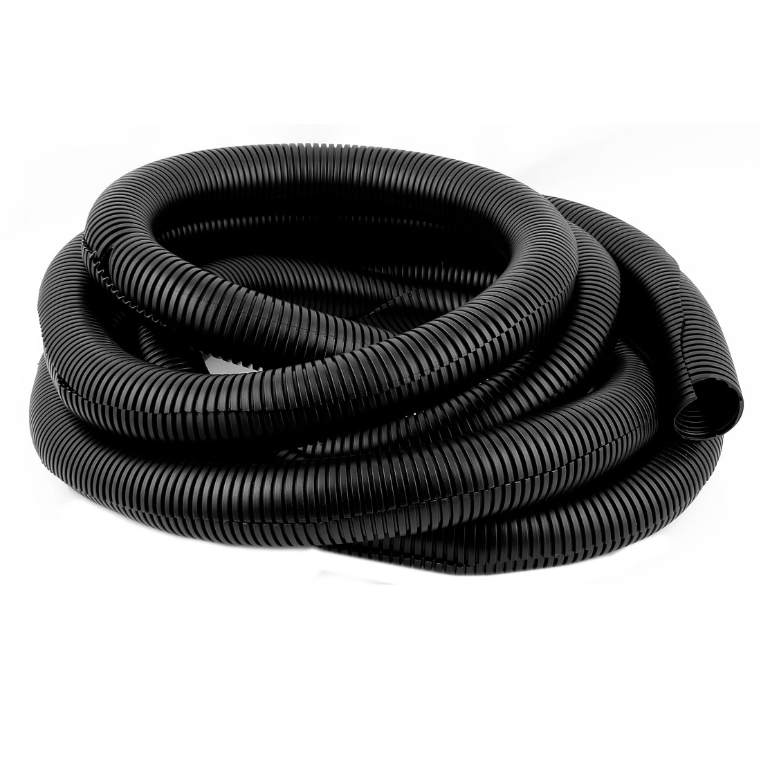 Black 42mm x 35mm Flexible Split Corrugated Tubing Wire Cable Conduit Tube Pipe 4.5M