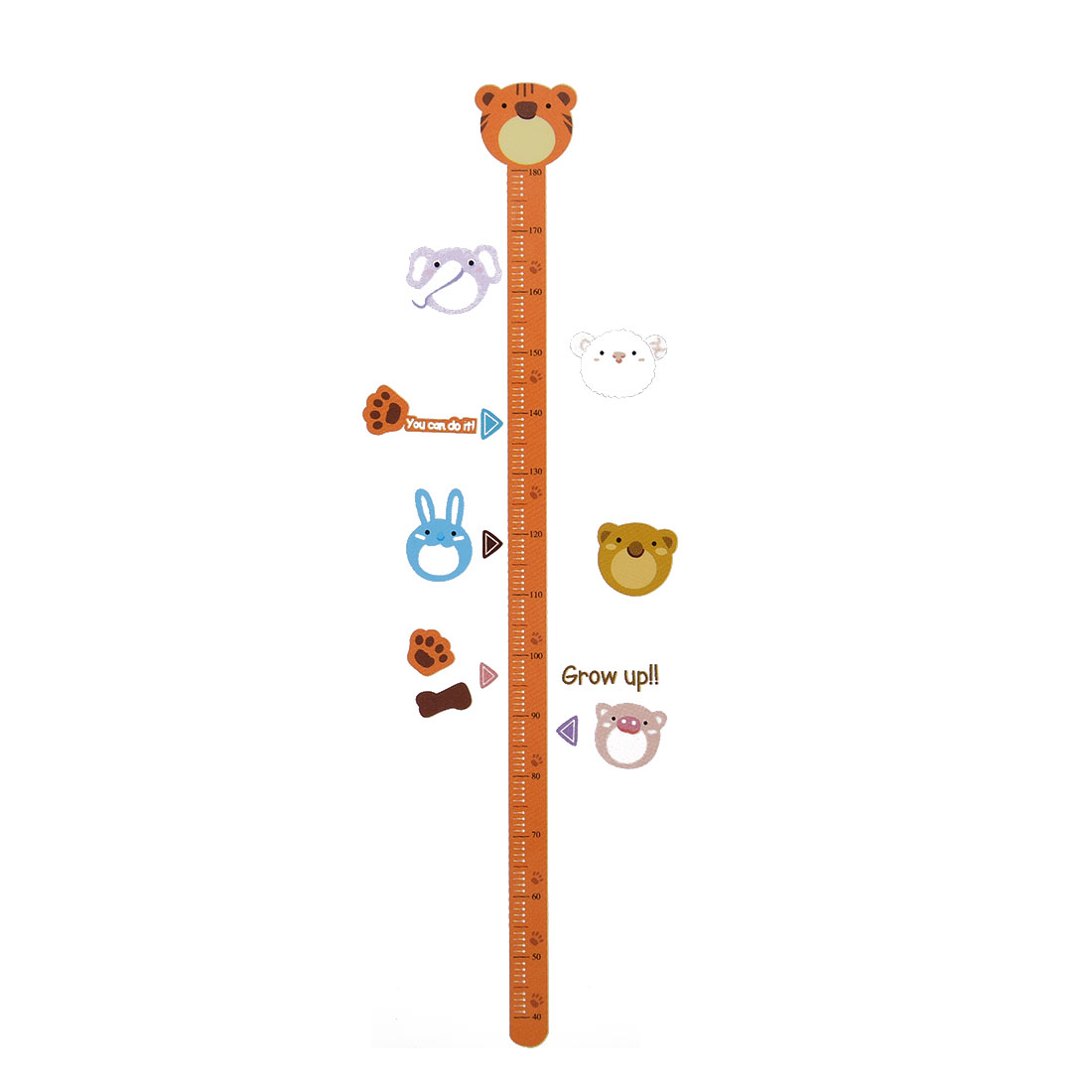 Household Living Room Animal Growth Height Measure Wall Sticker DIY Wallpaper