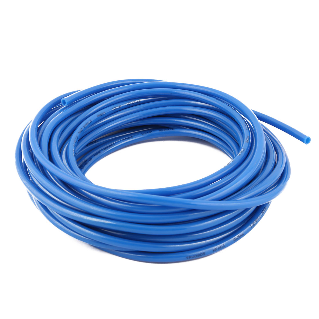 8mm x 5mm Polyurethane Pneumatic PU Air Tube Tubing Pipe Hose Blue 17.2M Length