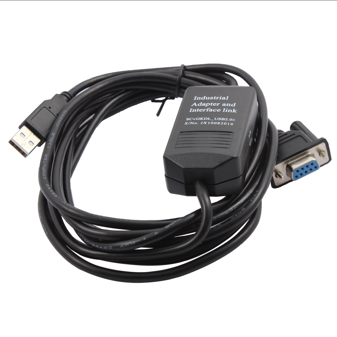 Computer RS232 DB9 to USB MT500 PLC Programming Data Extension Cable 10Ft Long