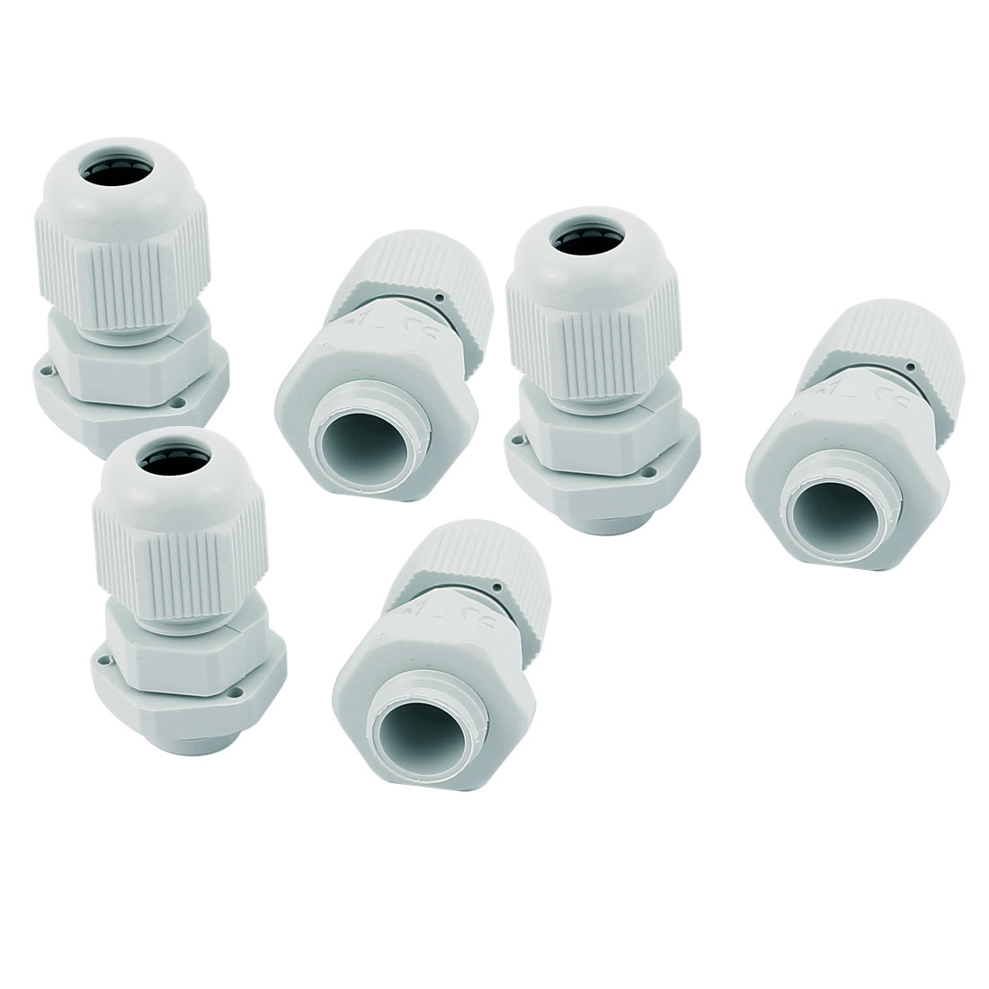 PG7 3-6.5mm Waterproof Cable Glands Wire Cord Connect Connector Adapter White 6 PCS