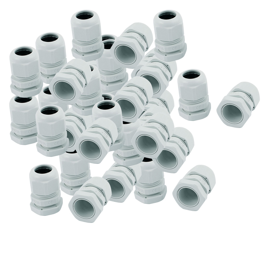 35 PCS PG16 Waterproof Cable Glands Fixing Cord Connector Joint Adapter White