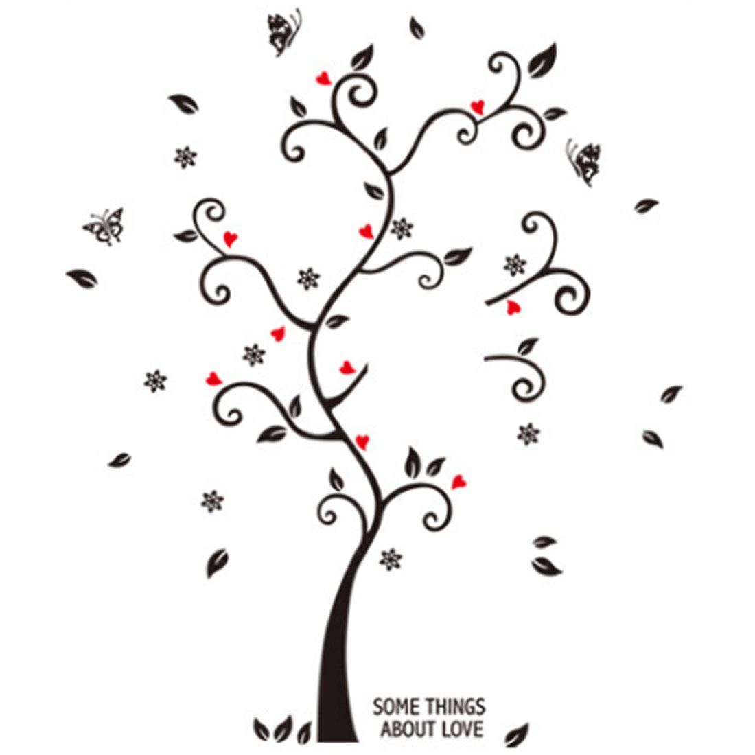 Home Room PVC Tree Pattern Removable DIY Wall Sticker 60 x 45cm