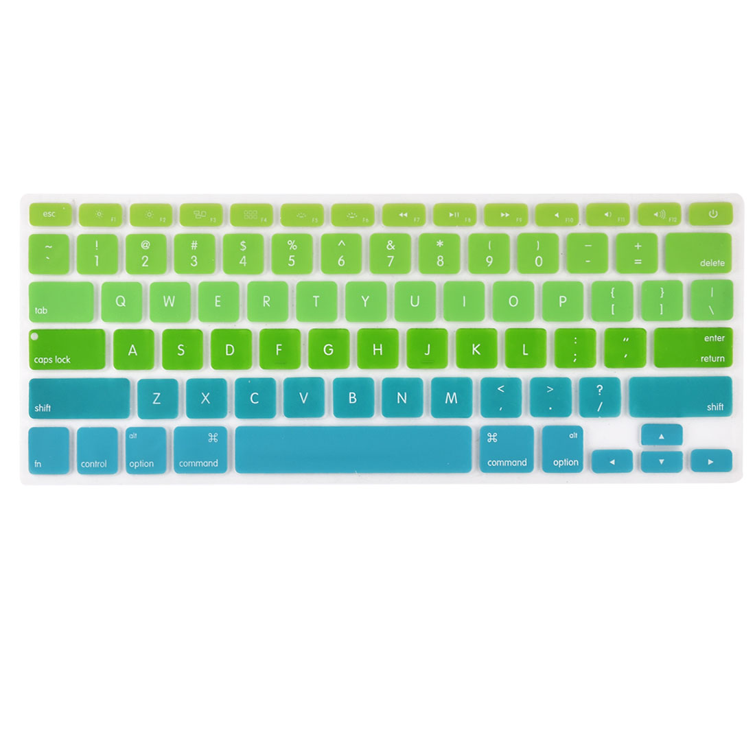 Laptop Macbook Silicone American Washable Keyboard Protective Film Preservative Green Gradient 13''