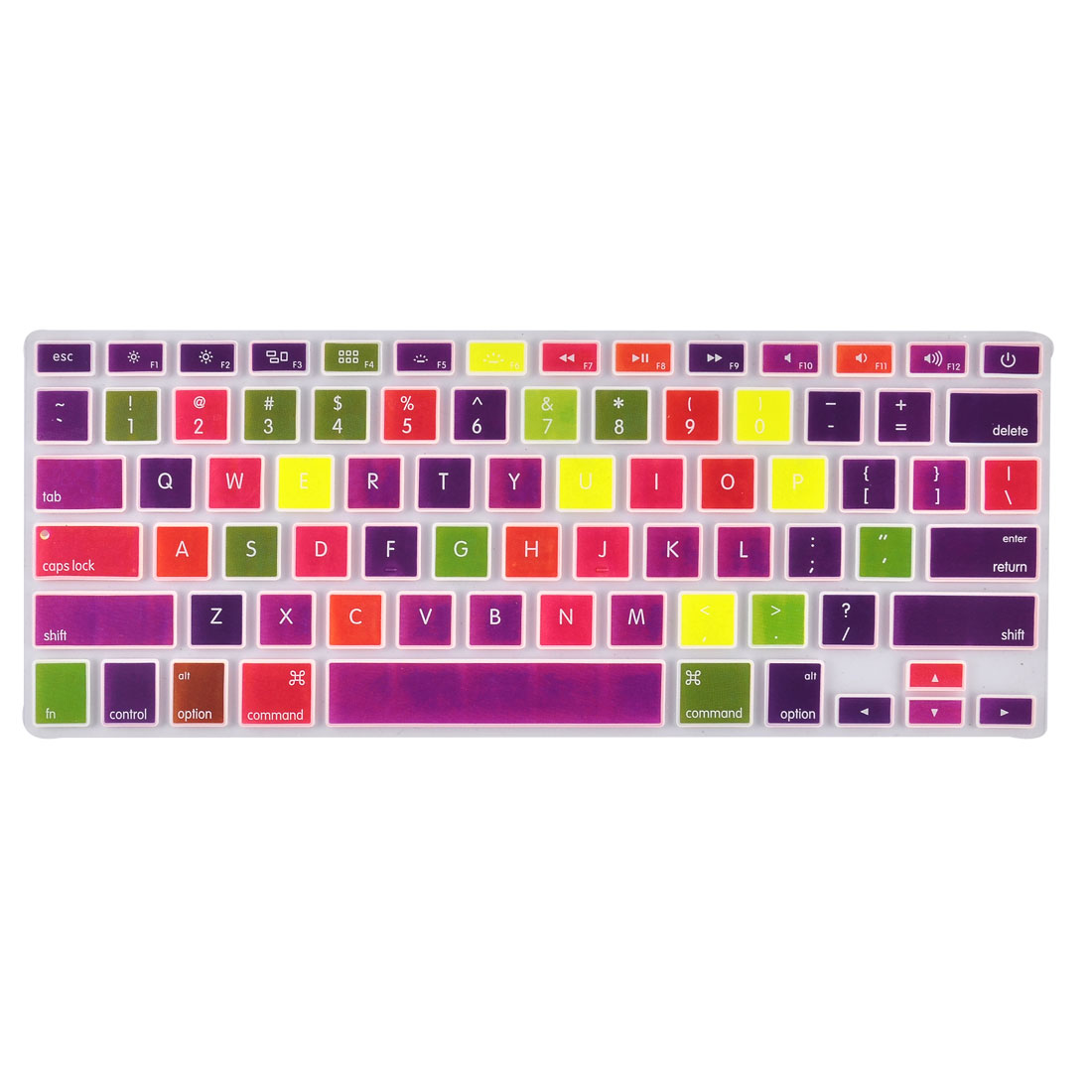 Laptop Macbook Silicone Colorful Grids Pattern Dustproof Keyboard Protective Film Preservative Cover 13''