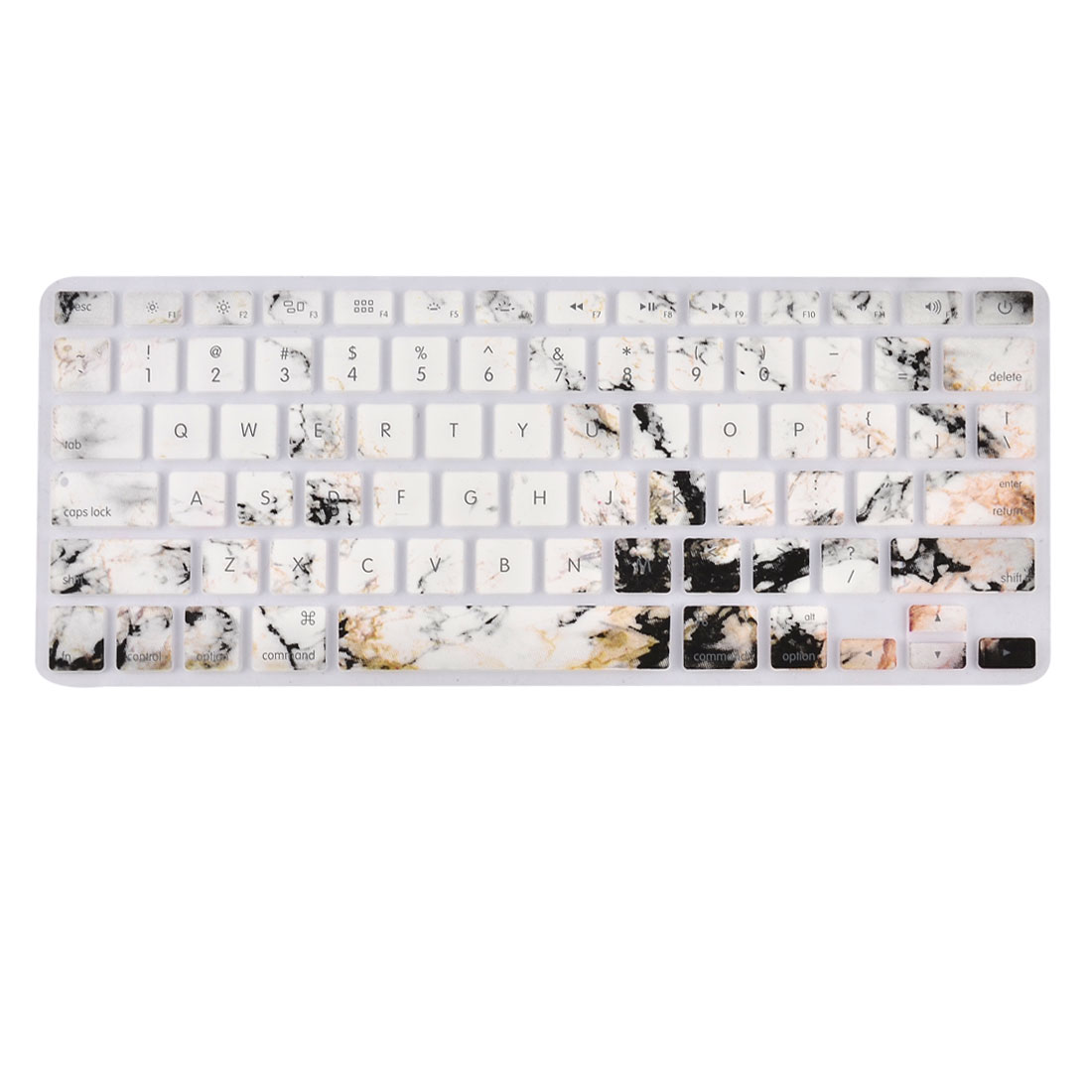 Laptop Macbook Silicone Marble Printed American Dustproof Keyboard Protective Film Preservative Cover 13''