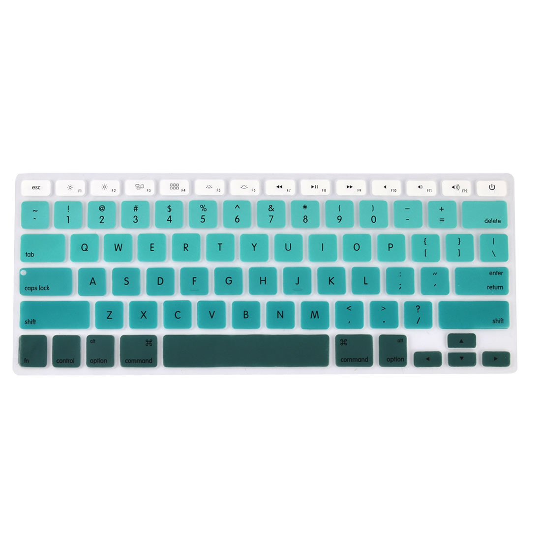 Laptop Macbook Silicone Crystal Guard Dustproof Keyboard Protective Film Cover Green Gradient 13''