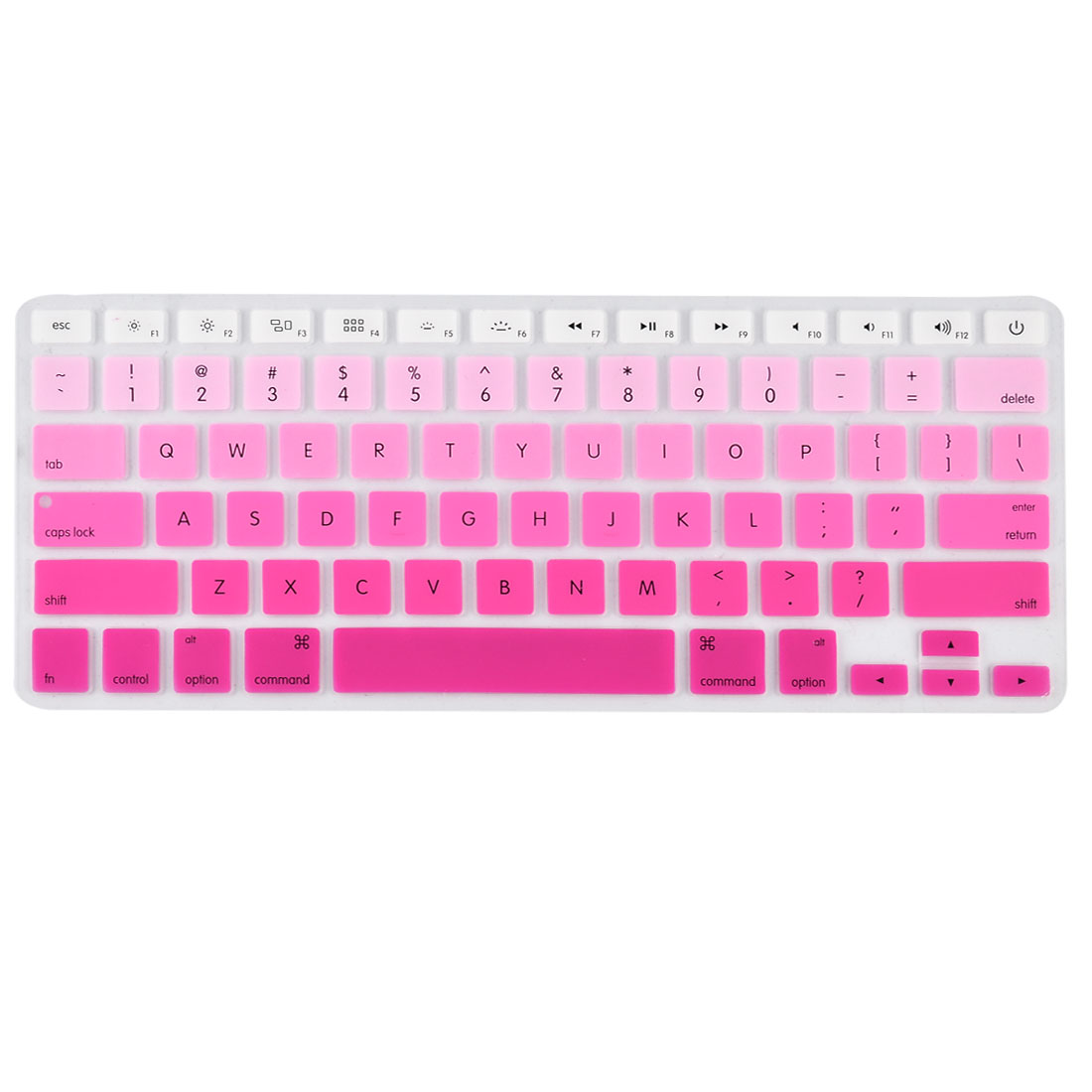 Laptop Macbook Silicone American Dustproof Washable Keyboard Protective Film Preservative Cover Rose Red Gradient 13''