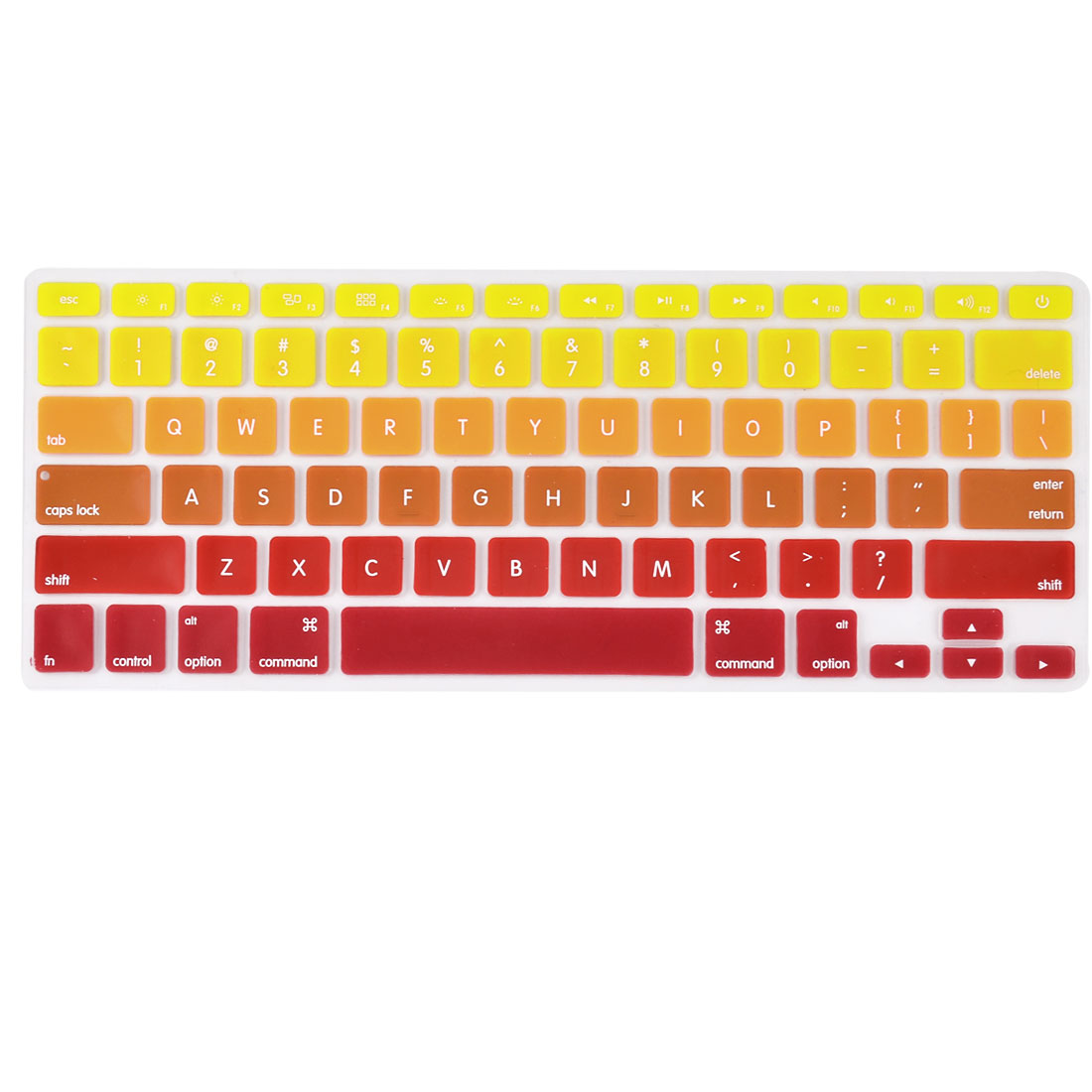 Laptop Macbook Silicone American Dustproof Washable Keyboard Protective Film Preservative Cover Yellow Gradient 13''