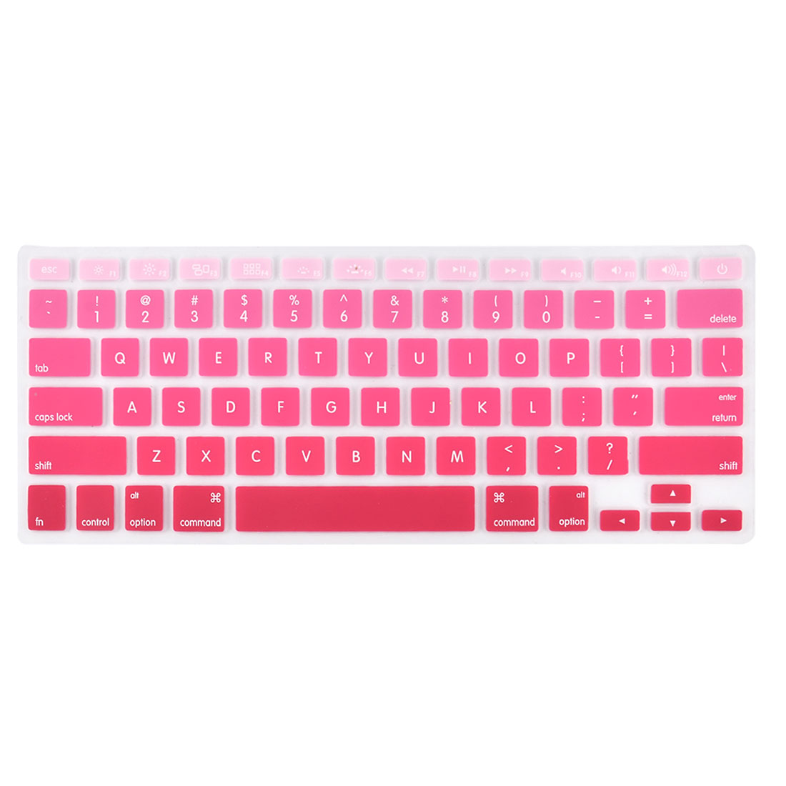 Laptop Macbook Silicone American Dustproof Washable Keyboard Protective Film Preservative Cover Red Gradient 13''