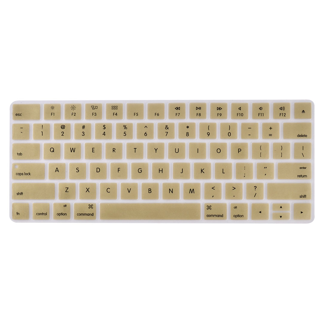 Laptop Macbook Silicone Crystal Guard Protection Keyboard Protective Film Cover Gold Tone 13''