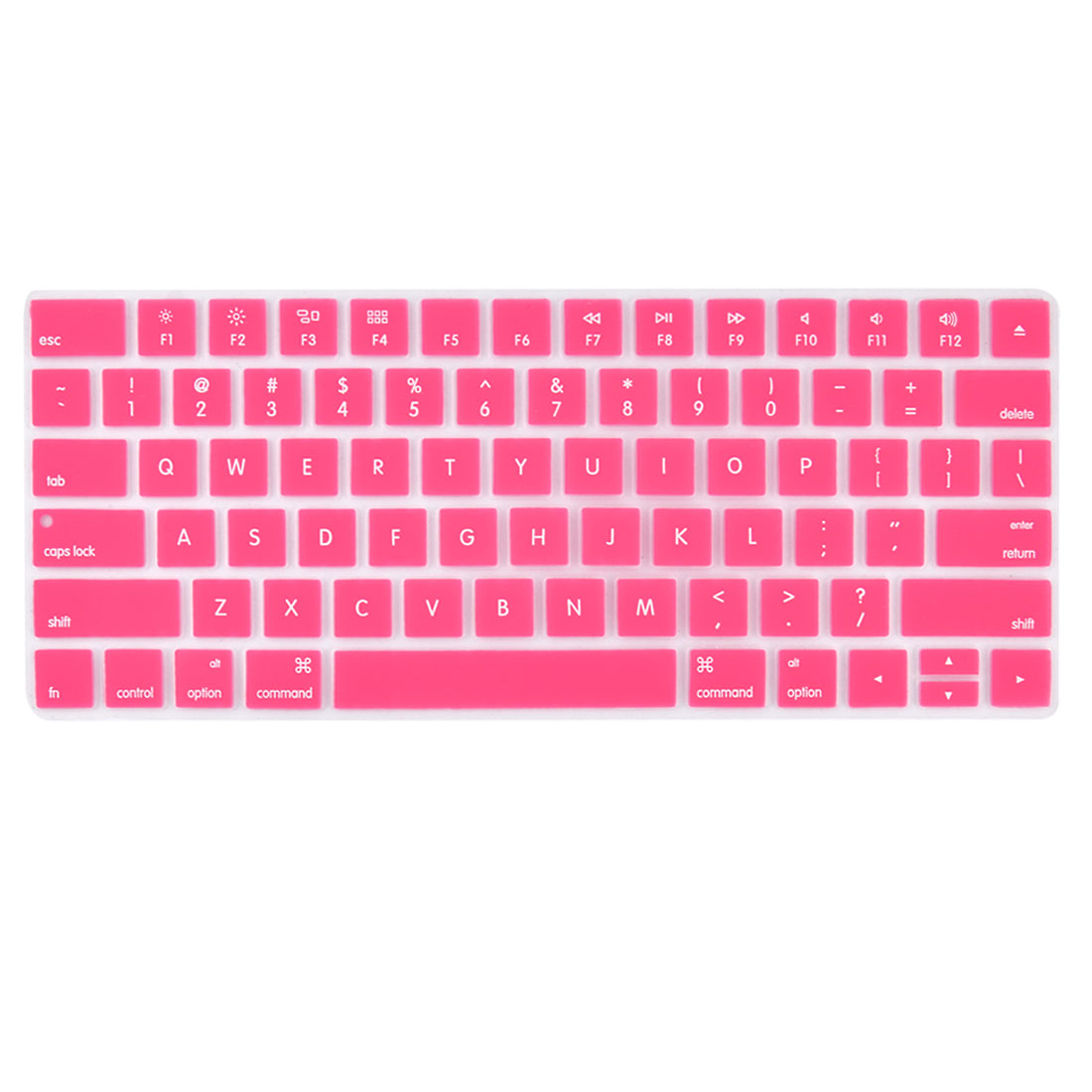 Laptop Macbook Silicone Crystal Guard Protection Keyboard Protective Film Cover Pink 13''