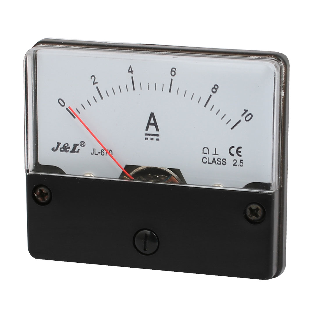 DC10A Class 2.5 Analog Current Rectangle Panel Meter Ammeter Gauge