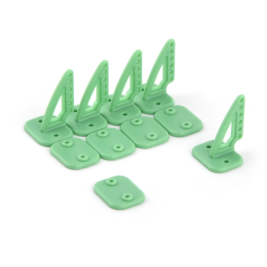 5 PCS RC Model Airplane DIY Assembly Parts 20mm x 27mm Rudder Angle Green