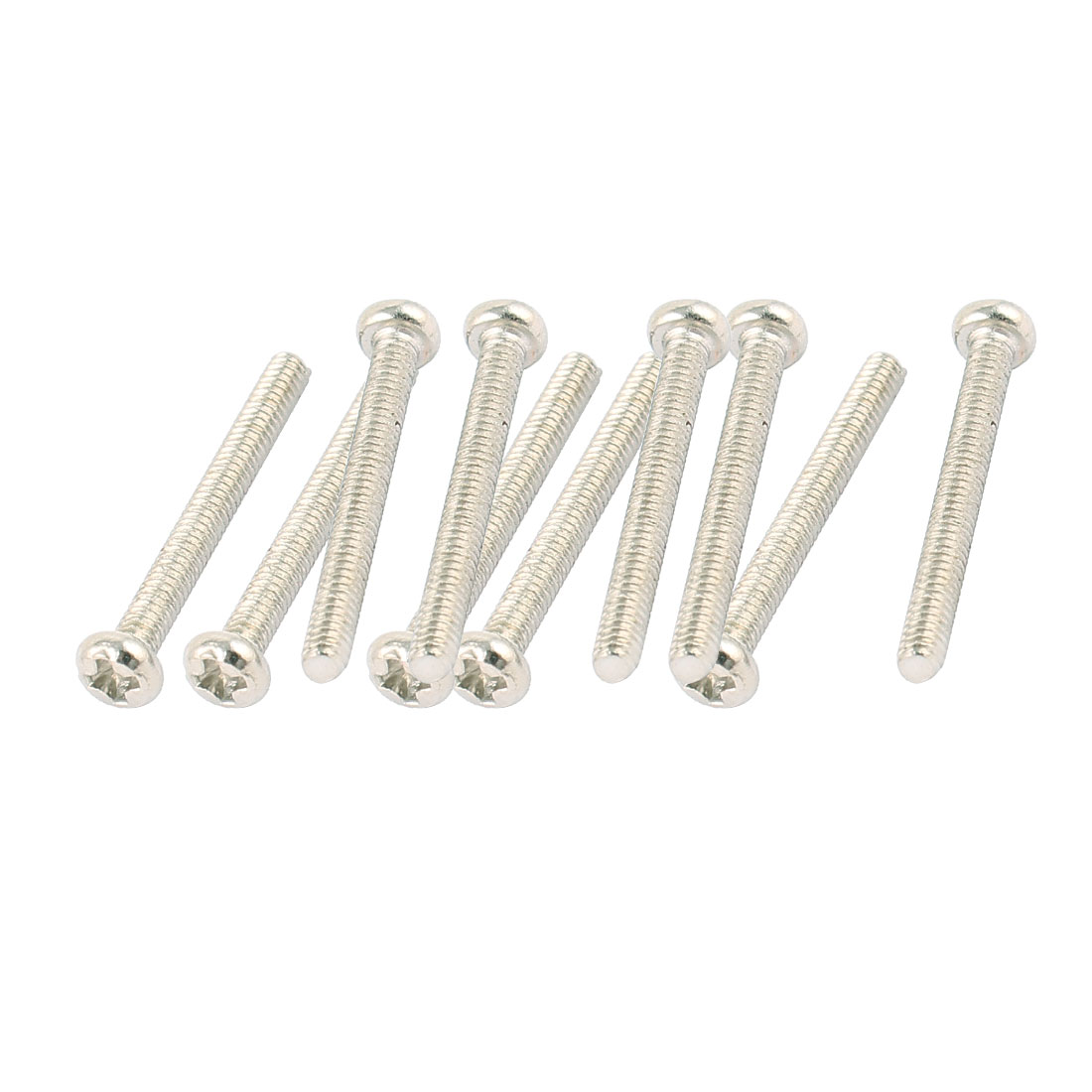 10Pcs Metal 2mmx18mm Round Cross Head Screws Bolts for RC Model Car Spare Part