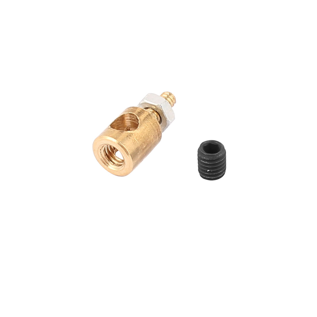 5mmx3.0mm Metal RC Airplane Stopper Servo Connectors with Screws Nuts