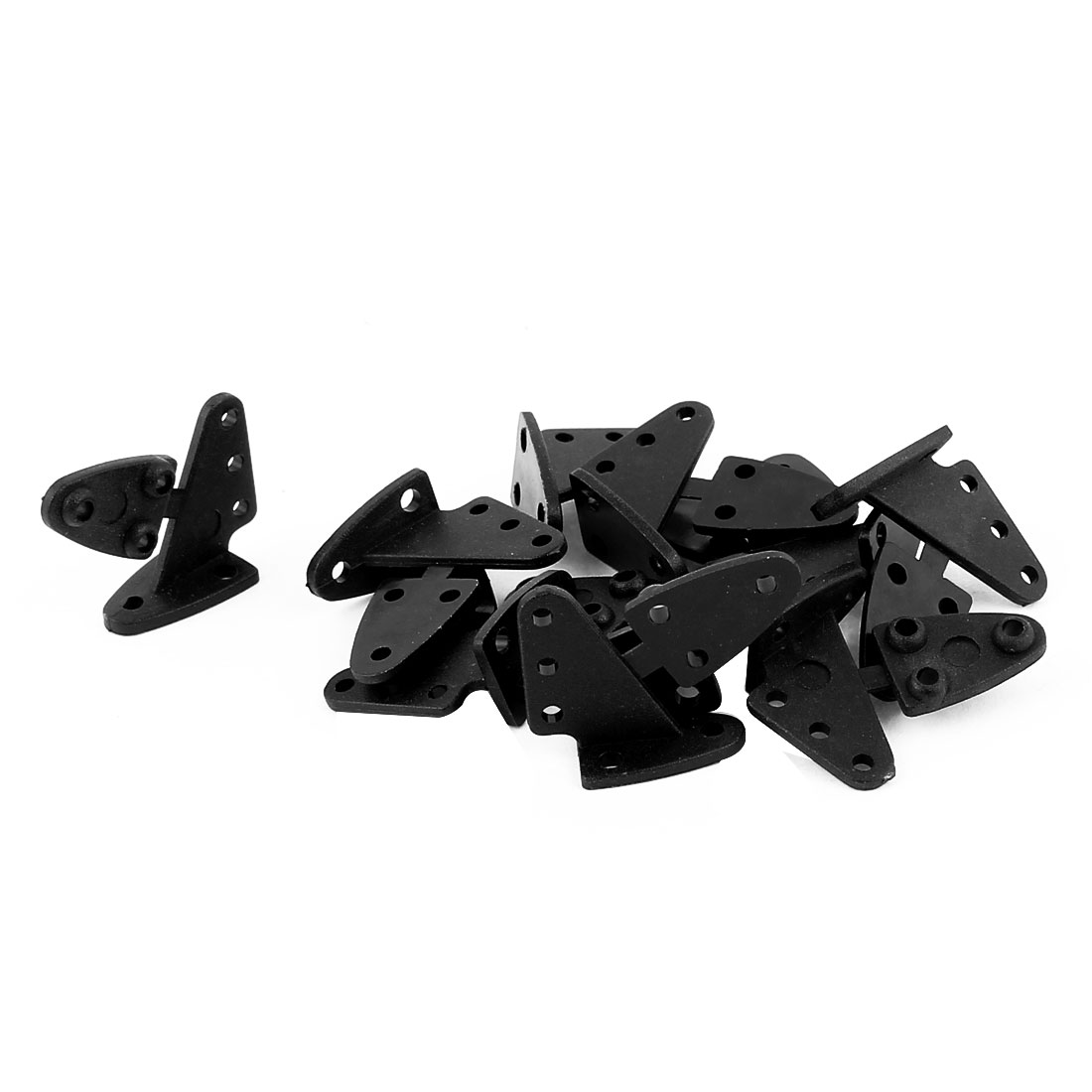 10pcs RC Remote Control Airplane Spare Parts 13.5x16.0mm Triangle Rudder Angle Black
