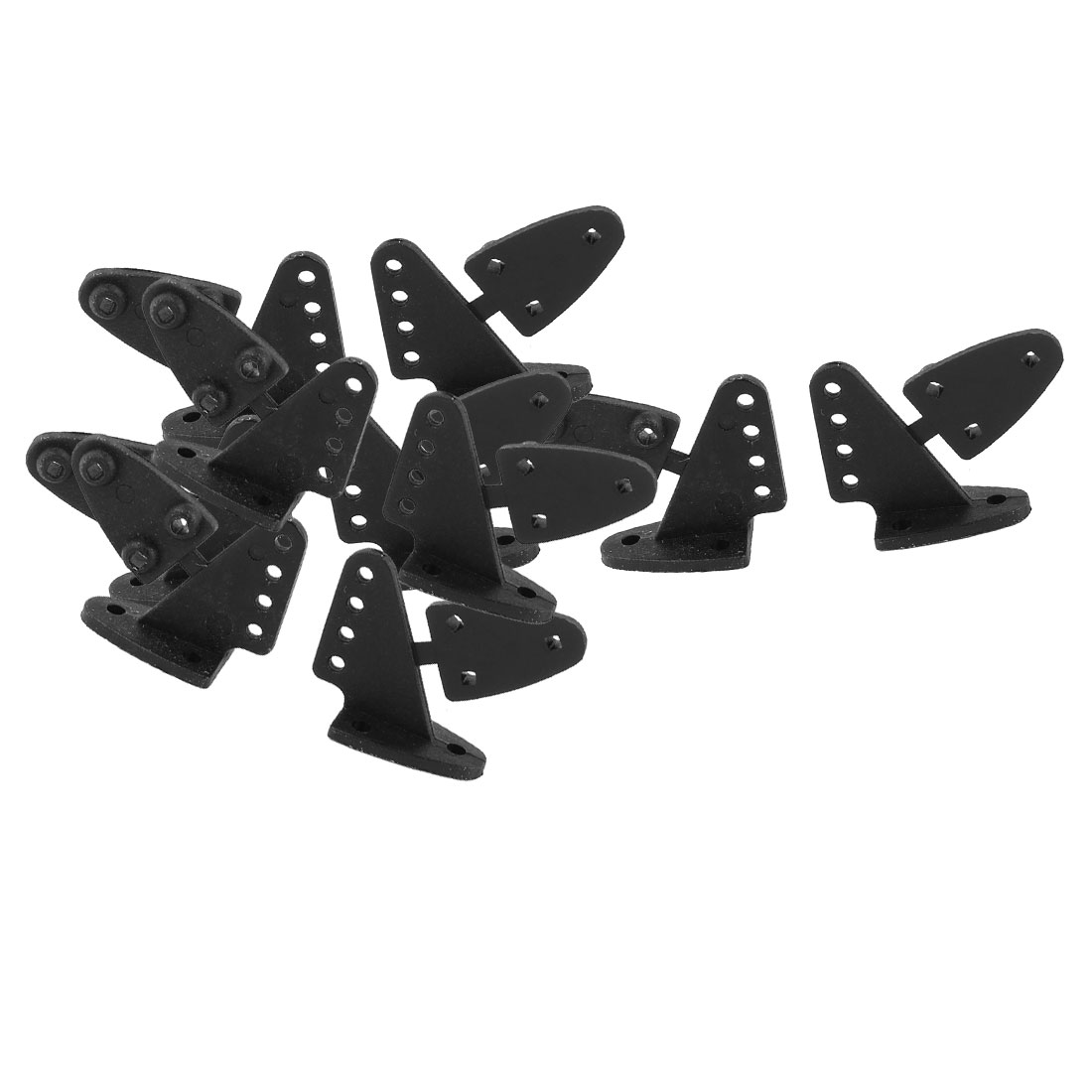 10pcs RC Remote Control Airplane Spare Parts 16.5x20.0mm Triangle Rudder Angle Black